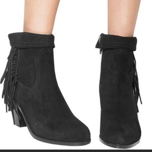 Sam Edelman Louie Leather Fringe Booties